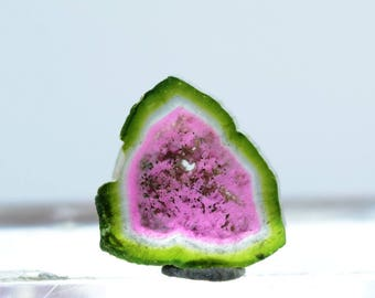 7.05 ct Perfectly Shaped Watermelon Tourmaline Slice from Paproke Afghanistan - 14*13*4 mm