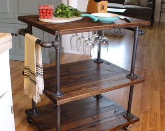 industrial kitchen cart bar cart serving cart