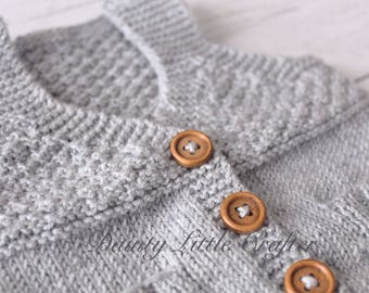 Baby boy grey Knitted Waistcoat/vest 0-3 months