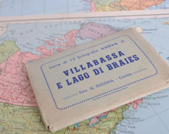 Block of vintage Postcards ' 50 of the weight of Villabassa and Lake of Braies-Italy
