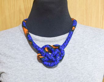 African Print Ankara Bib Necklace _ Handmade African Prints Fabric Necklace _ Collier en Tissu Africain