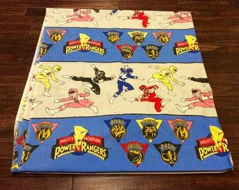 1994 Power Rangers Twin Bed Flat Sheet by Seban, Power Rangers Sheets, Power Ranger Bedding, Vintage Power Ranger, Collectible Power Rangers