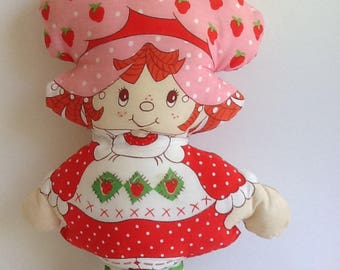 Original Vintage STRAWBERRY SHORTCAKE Pillow Doll