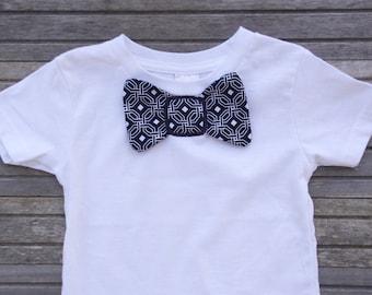 Boys Bow Tie T-shirt, Little Boys Shirt, Baby Tie Shirt, Custom T-shirt