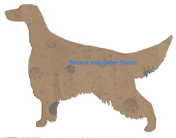 Puppy Bows ~ Irish Setter dog breed plastic craft stencil