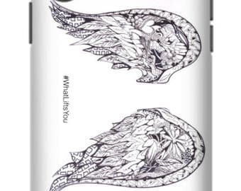 What Lifts You Wing Illustration Phone Case black ink texture Art Print