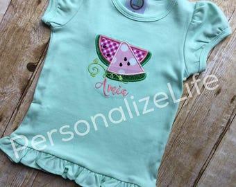 Watermelon shirt, personalized watermelon shirt, summer shirt