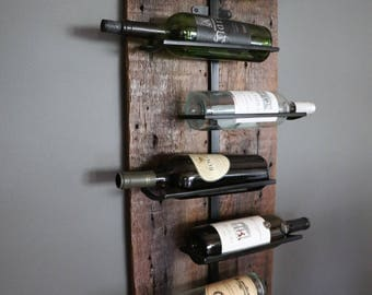 R U R A L | salvage 7 Bottle Wine Rack