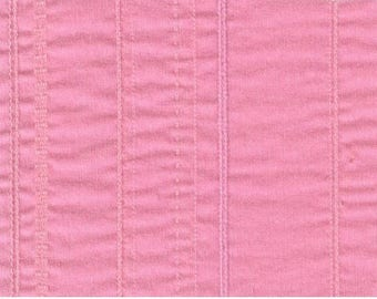 Pink striped woven fabric