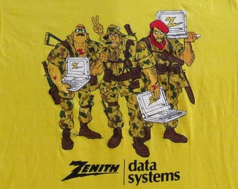 80's Vintage T Shirt Zenith Data Systems Computer Nerd NOS Deadstock