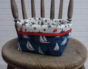 Fabric Storage Basket | Bin | Organiser | Portable | mini storage