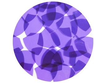 Shield Vinyl Shape Top Hole 1.5 inch Purple Go Go Transparent