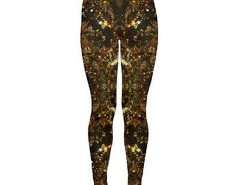 Yoga Leggings:Cannabis Leggings in 710 Oil Marijuana Print, Weed Leggings,Ganja Leggings, Marijuana Leggings-Made to Order