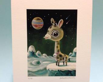 Jovian Giraffe limited edition giclée fine art print