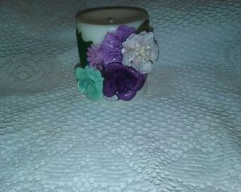 Decorative Pillar Candle - Purple Explosion CA05