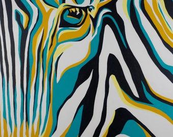"Zebra Painting ""Stripe"""