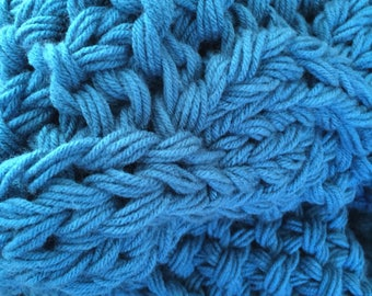 Gorgeous Ocean Blue blanket, Perfect Elegance for your home!