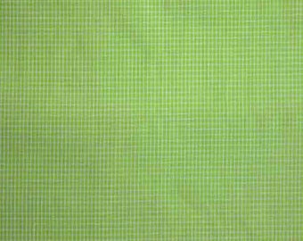 """Lime Green and white 1/16"""" Window Pane  44"""" wide - 100% Cotton"""