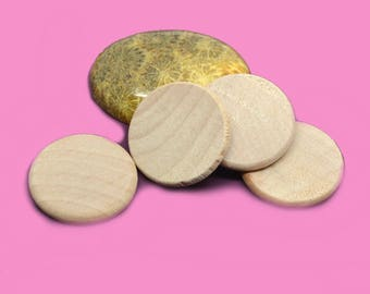 10 blank wooden boxwood for cabochon 25mm resin