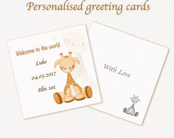 Personalized Baby greeting card