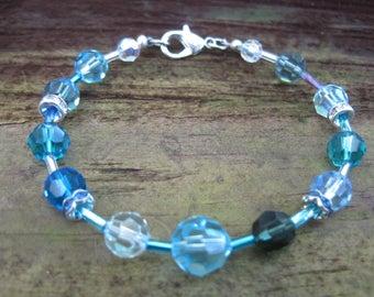 Blue Echo Swarovski Crystal Bracelet