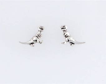 Sterling Silver Tyrannosaurus Rex Post or Stud Earrings