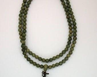 Lignum Vitae 8mm Wood Beaded Stretch Necklace or Bracelet
