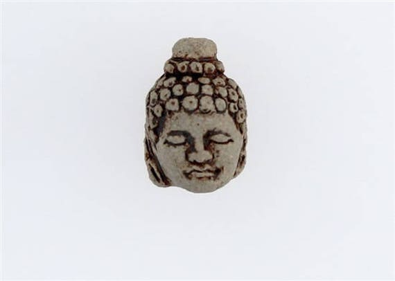 High Fire Ceramic Buddha Head Beads Choice Of Lot Size