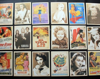 Movie and Music Postcard Set of 32 cards