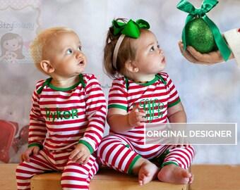 Personalized christmas pajamas | Etsy
