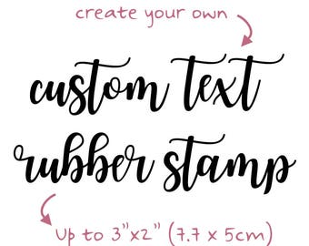 Personalised Handwritten Stamp, Calligraphy Text Stamp, Optional Names, Dates, Location, Quotes, Phrases, Custom Text Stamp, Unique Gift