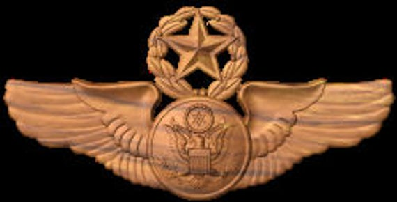 USAF Enlisted Master Aircrew, Aviation art, Aircrew wings, Usaf plaque, wooden wings, USAF Wings, US Airforce Wing, Aircrew Badge, Aviation,