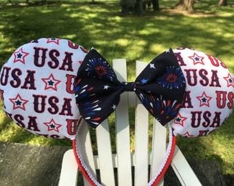 Ready to Ship USA Mickey Ears