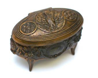 Art Nouveau Jewelry Box // Antique Jewelry Casket