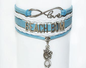 Beach Bracelet | Beach Jewelry | Beach Bum Bracelet | Beach Lovers Bracelet | Beach Lovers Gift | Lake Life Jewelry |  Gifts For Women