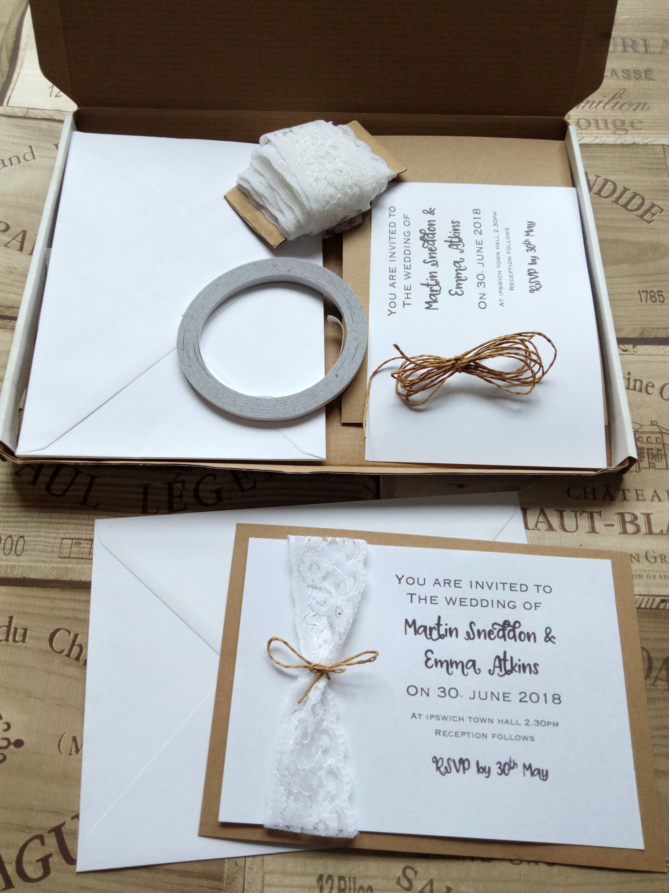 make your own wedding invitations kits - 28 images - fearsome diy ...