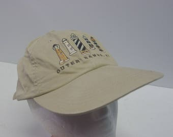 Low Profile 90s Outer Banks lighthouse dad hat cap