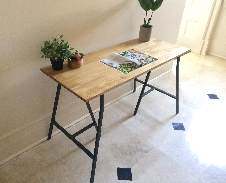 Long Narrow Desk/ Table on Ikea Legs. CHOOSE ANY SIZE. Free