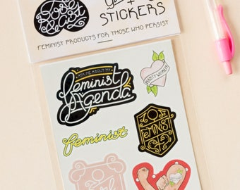 Feminist AF / Girl Gang Stickers // Feminism, Nasty Women, Women's Rights, Future is Female, Smash the Patriarchy, Journal Planner Stickers