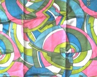 ON SALE Retro Schwartz Lieman textile fabric Pucci inspired print 2+yds~