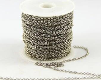 50 cm chain thin color silver palladium