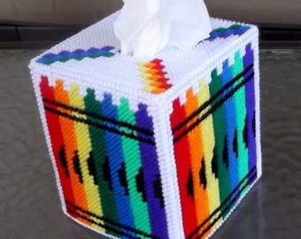 Crayons  Tissue Box Cover