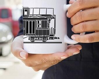 KillerBeeMoto:  U.S. Made Train Caboose On A Coffee Mug