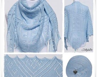 Knitting Pattern Lace Shawl Heavenly