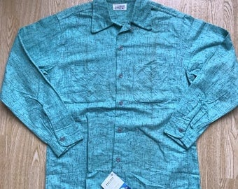 Vintage 1950s Deadstock Cotton Flannel Flecked Shirt