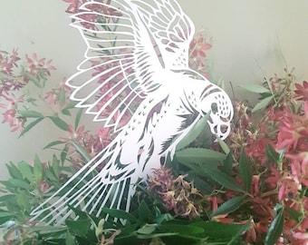 Paper-cut Parrot, Yupo paper