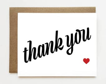 Thank You Cards -  Minimal Card - Modern Thank You Card - Simple Thank You Cards