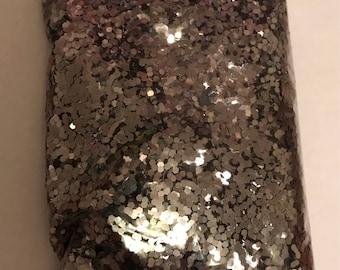 Gunmetal Dark Silver Metallic .062 (1/40) glitter over 1 oz