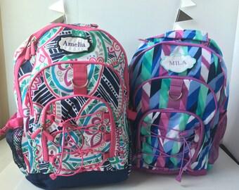 Monogrammed Girls Back Pack Backpacks for Girl's