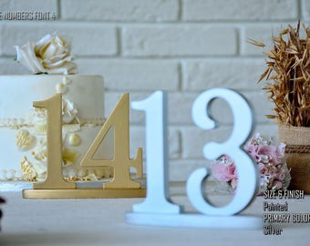 Painted SET 1-20, Navy Blue Wedding Decorations, Navy Wedding,  Wedding Reception Table, 10 table numbers